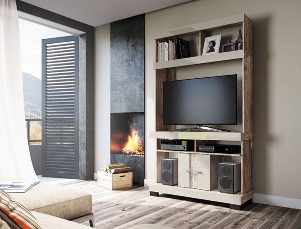 Picture of Home Theater Rack de Tv JADE Natural/Beige