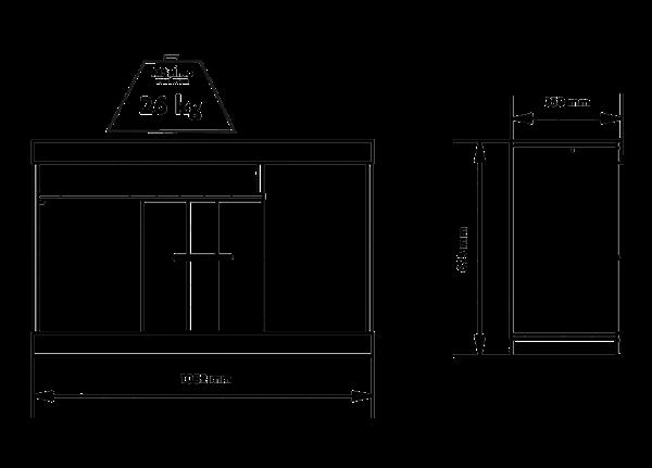 Picture of Rack Mesa de Tv SAN DIEGO c/Panel Capuchino/Café