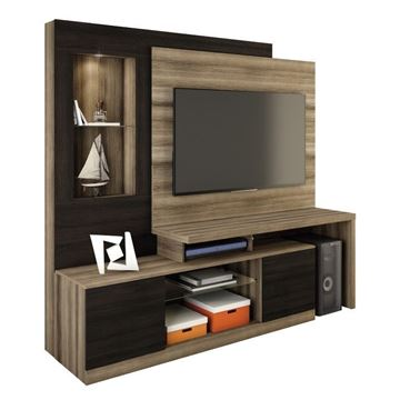 Imagen de Home Theater Rack para Tv ZEUS Capuchino/Ébano