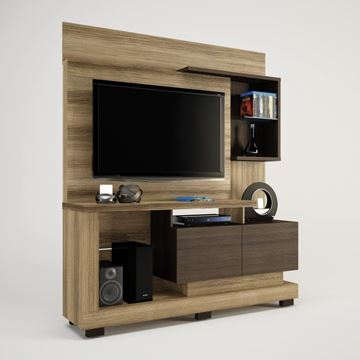 Imagen de Home Theater Rack para Tv TURIN Capuchino/Ébano
