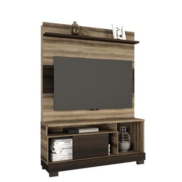 Imagen de Home Theater Rack para Tv HERCULES Capuchino/Ébano