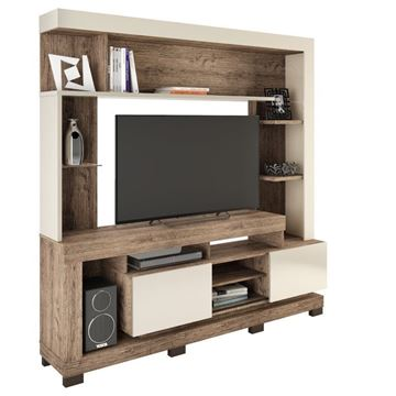 Imagen de Home Theater Rack para Tv THALIA Natural/Beige