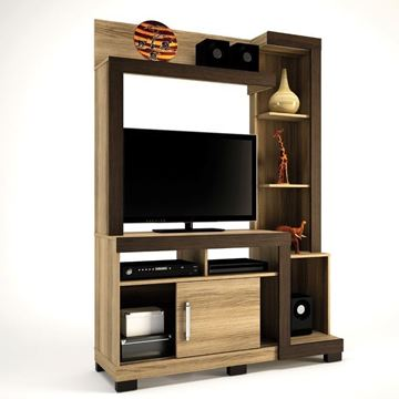 Imagen de Home Theater Rack de Tv ISA Capuchino/Ébano