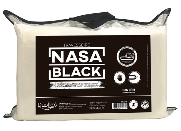 Picture of Almohada Viscoelástica Nasa Black Pack X 2 DT 3245