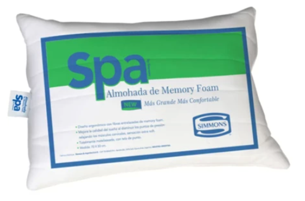 Picture of Almohada Simmons Modelo Spa de 60 x 40