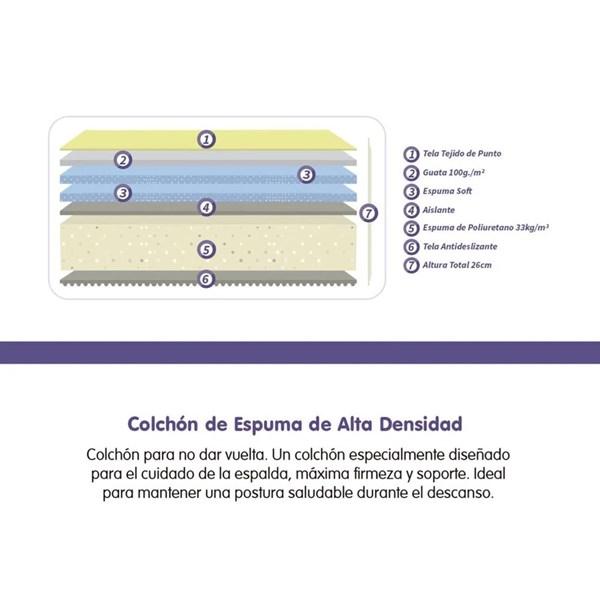 Picture of Colchón Espuma Density 090 x 190